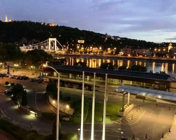 panoramic view of the Danube in Budapest